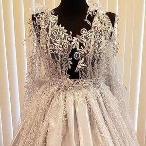 RAJATA Silver Lace & Lame' Nymph Wedding Ballgown